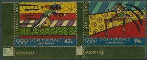 UNO New York 2008 Olympische Sommerspiele Peking 1099/00 Ecke postfrisch