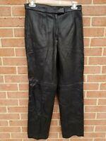 SIENA STUDIO genuine leather pants womens Black Size 8P