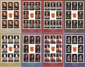 SOLOMON  MNH SHEETS 2008 KINGS & QUEENS ENGLAND SG 1238-124