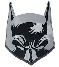 batman mask oval logo superhero dc comics chrome auto car emblem usa made