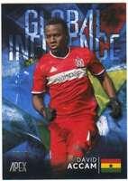 2016 Topps Apex MLS Soccer Global Influence Blue /99 #GI-DA David Accam Chicago