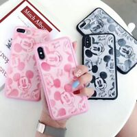Disney MICKEY Minnie Marble Leather Phone case  For iPhone X XS MAX 7/8Plus XR
