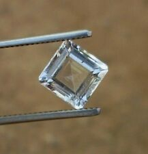 3.75 Ct Natural topaz colorless white square octagon cut loose gemstones