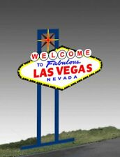 WELCOME TO LAS VEGAS ANIMATED NEON SIGN - HO/O-SCALE- LIGHTS, FLASHES & MORE