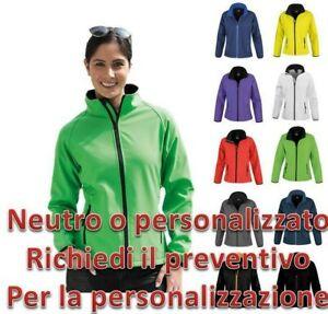 Giacca softshell Donna Giubbotto Giubbino Antivento Impermeabile Con Zip Result