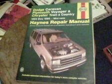 Haynes Repair Manual Dodge Caravan Plymouth Voyager & Chrysler Town & Country