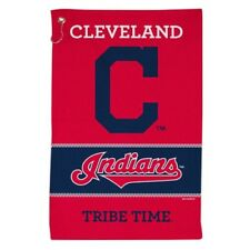 """CLEVELAND INDIANS ALL PURPOSE GOLF TAILGATE TOWEL 16""""X25"""" HOOK AND GROMMET"""