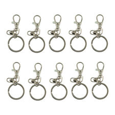 10pc Swivel Lobster Clasps with Split Keyring for Keychain DIY Bags Jewelry