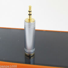 "50pcs High Quality Gold 3.5mm 1/8"" Stereo Male to 6.35mm 1/4"" Female Adapter"