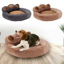 Bear Paw Pet Bed Round Calming Bed Dog Cat Comfy Shag Warm Fluffy Bed