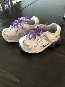 Girls Nike Shox 6c Purple And White