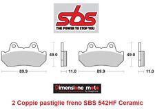 542HF - 2 CP Pastiglie Freno Anteriori SBS Ceramic per HONDA NS 250 R dal 1985