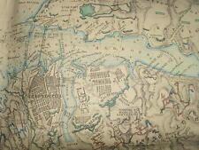 RARE/JAMES WYLD CRIMEAN WAR COLOUR LINEN MAP/SIEGE OF SEBASTOPOL/1855/MAPCASE