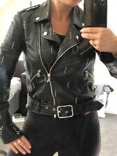 Patrizia Pepe Studded Leather Jacket Size S