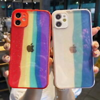 For iPhone 12 Mini 11 Pro Max XR XS X 8 7 Bling Rainbow Gradient Soft Case Cover