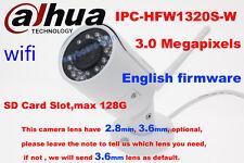 dahua IPC-HFW1320S-W 3MP HD IR Network IP IP67 1080P security Bullet WIFI Camera