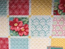 "�œ�2 NWT Pioneer Woman ""Patchwork"" Diamond Placemats Set of 2 Quilted Reversible �œ�"