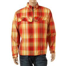 Vintage 60s Mens Red Plaid Car Jacket Midcentury Rockabilly Windbreaker Silton L