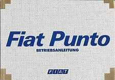 FIAT PUNTO 2.Gen Betriebsanleitung 2001 Bedienungsanleitung Handbuch Bordbuch BA