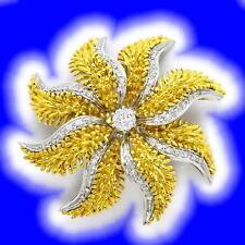 Echtschmuck-Broschen & -Anstecknadeln aus mehrfarbigem Gold mit IF Reinheit