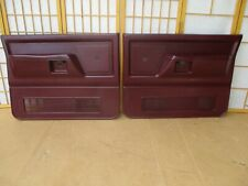 88-93 Dodge Ramcharger / Ram Pickup Truck LEFT RIGHT MAROON CRANK Door Panel SET