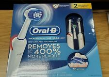 Braun Oral-B Professional Care 2000 Rechargeable 2 Toothbrush System New Sealed