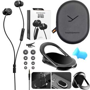 beyerdynamic Soul BYRD Earbud Headphones iOS Android Headset + Phone Mount Kit