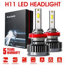 Pair H11 LED Headlight Conversion Bulb High Low Beam Kit 120W 6000K White