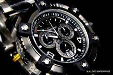 Mens Invicta Reserve Arsenal Watch Full Size 63mm Swiss Chronograph New Black