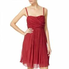 Bnwt Phase Eight Size 10 Plisse Dress Rouge Red Fine Pleat Party Cocktail