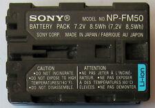 Batería Original Genuino Sony NP-FM50 NP-FM55H FM30 DCR-TRV245E TRV250 DSC-F828