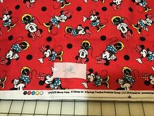 Minnie Prissy Minnie Mouse Fabric 1 Yard