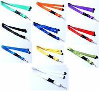 Polyester Strap Solid Color Breakaway Lanyard Id Badge Flat Mobile Key Holder