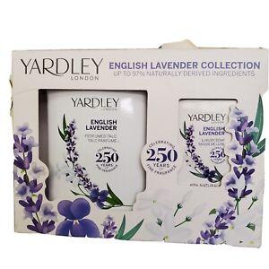 Yardley London English Lavender Collection Gift Box - Perfumed Talc, Luxury Soap