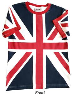 Age 6 to 8 yr S.O.L.L Union Jack Flag Kids Unisex T-Shirts