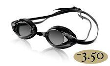 Speedo Vanquisher 2.0 Optical Competitive Swim Goggle, Smoke -3.50