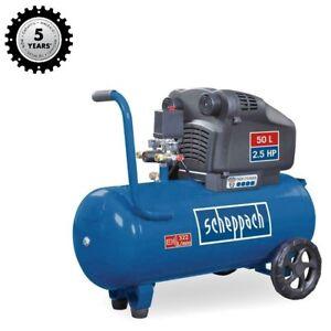 Scheppach Profi-Doppelzylinder Kompressor HC54DC 332L/min 2 Manometer  5J G