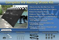 RV Awning Shade Motorhome Trailer Black Awning Shade Complete Kit 8x10