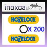 200 HOZELOCK / GARDENA GARDEN HOSE CONNECTORS O-RING SEAL SPARES KIT HOSELOCK !!