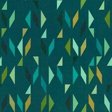 Arc com Fragment Verdigris Teal & Aqua contemporary Vinyl Upholstery Fabric