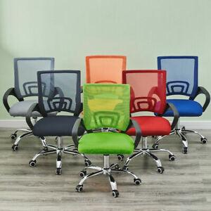 Mesh Office Chair Adjustable Ergonomic Swivel Chair Computer Desk Fabric Seat UK