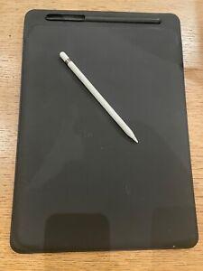 Authentic Apple iPad Pro 12.9 Leather Sleeve Case Black + Apple Pencil 1st gen