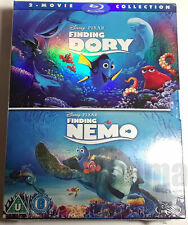 Finding Nemo + Finding Dory Brand New 2-Movie Blu-Ray Set Both 2003 + 2016 Films