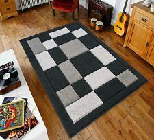 Black/Grey Havana90 Rug carpet Thick 12MM Polypropylene Non Shed Soft Dust Proof