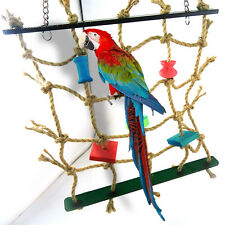Parrot Bird Pet Toy Rope Net Swing Ladder Toys Climbing Net Play Gym  New.