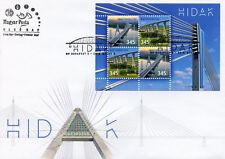 Hungary 2018 FDC Bridges Europa Bridge 4v M/S Cover Architecture Tourism Stamps