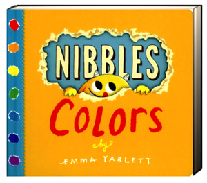 Nibbles Colors by Emma Yarlett (Board Book) FREE shipping $35