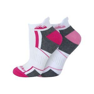 Ladies 2 Pairs  Cushion Sole Comfort Padding Cotton Rich Trainer Socks 4-8 UK