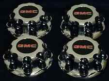 8 LUGS NEW GMC 2003 2015 SAVANA SIERRA YUKON XL CHROME WHEEL CENTER CAP HUB 4PCs