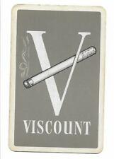 VISCOUNT CIGARETTES ADVERT X 1 ONLY SGL.VINT.PLAYING/SWAPCARD